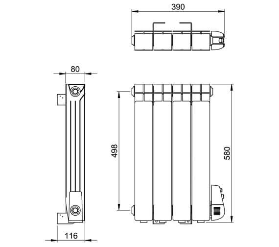 Technical drawing QS-V88614 / ER001 0580370WH-E