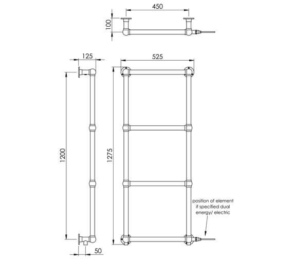 Technical drawing QS-V88619 / LG021BWM BR127052CP