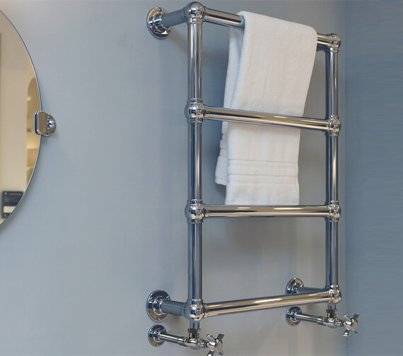 Vogue Ballerina 498 x 748mm Mildsteel Traditional Towel Rail