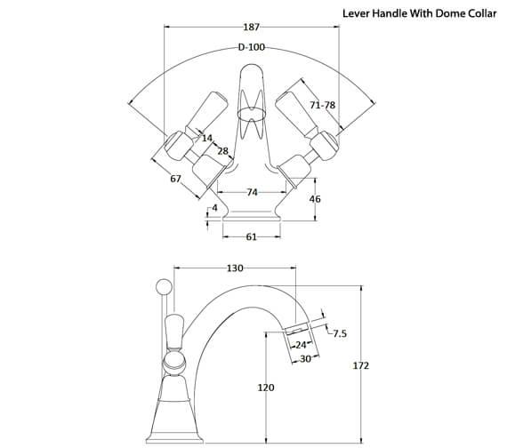 Alternate image of Hudson Reed Topaz Mono Basin Mixer Tap