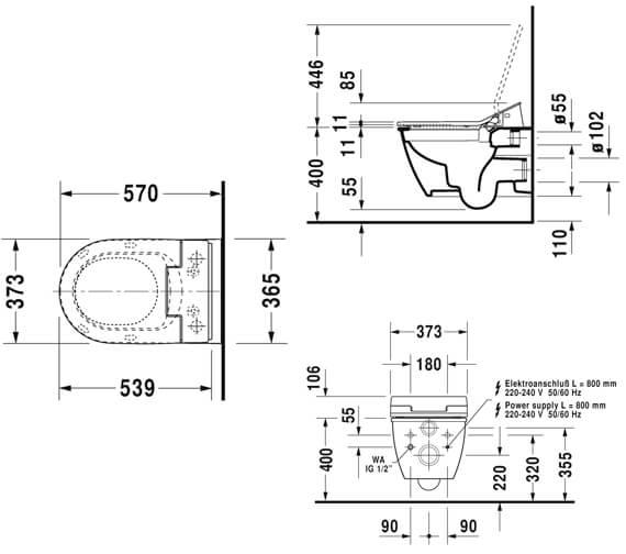 Technical drawing QS-V96201 / 2563590000