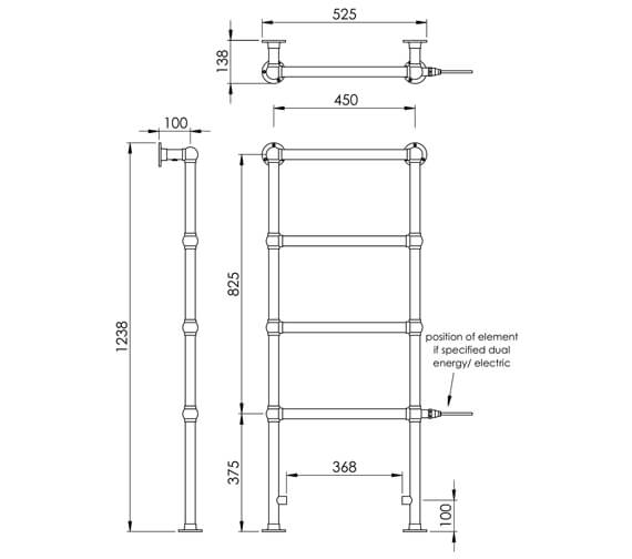 Technical drawing QS-V88623 / LG021AFW BR123052CP
