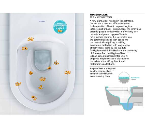 Alternate image of Duravit SensoWash Slim Seat With Vero Air Wall Mounted Rimless Toilet