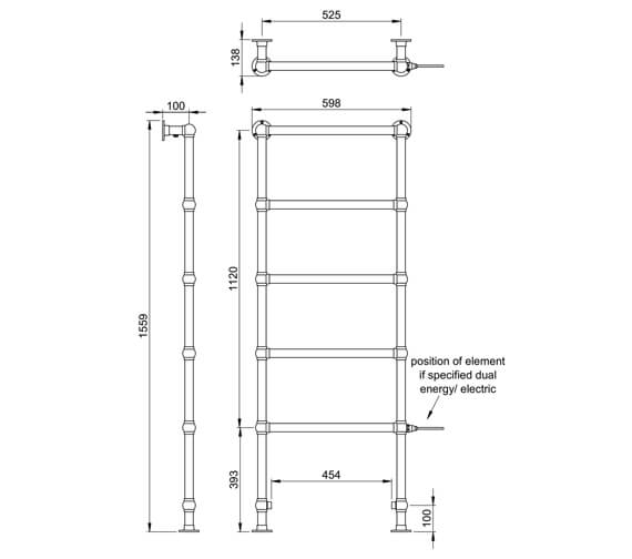 Technical drawing QS-V88627 / LG021 MS1548600CP