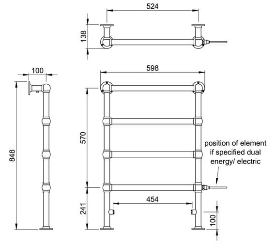 Technical drawing QS-V88625 / LG024A MS0850600CP