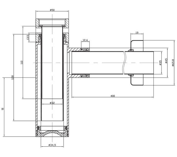 Technical drawing QS-V28980 / BTR0402C