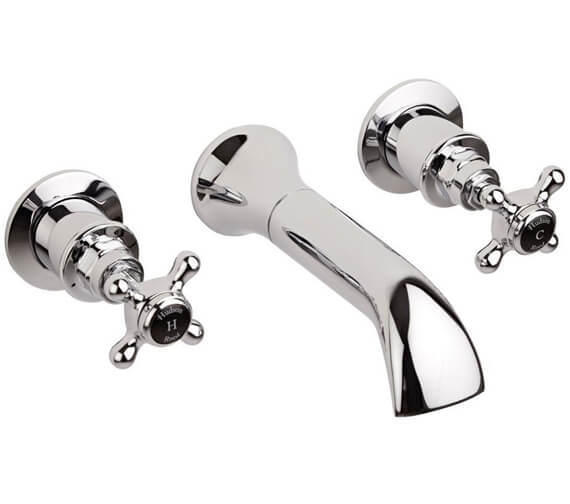 Alternate image of Hudson Reed Topaz Wall Mounted Bath Spout And Stop Taps