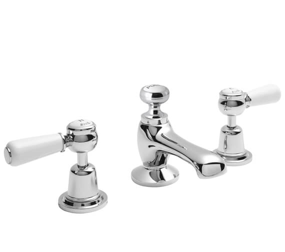 Alternate image of Hudson Reed Topaz 3 Tap Hole Basin Mixer Tap With Pop Up Waste