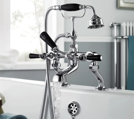 Alternate image of Hudson Reed Topaz Deck Mounted Bath Shower Mixer Tap