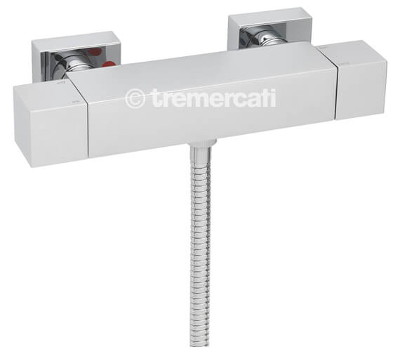 Tre Mercati Square Exposed Thermostatic Shower Valve Chrome