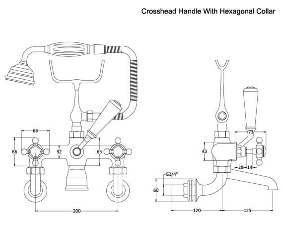Technical drawing QS-V93507 / BC304HXWM