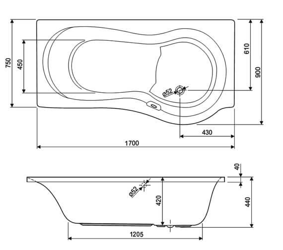 Technical drawing QS-999996 / 154IRIS17RHAQMAX