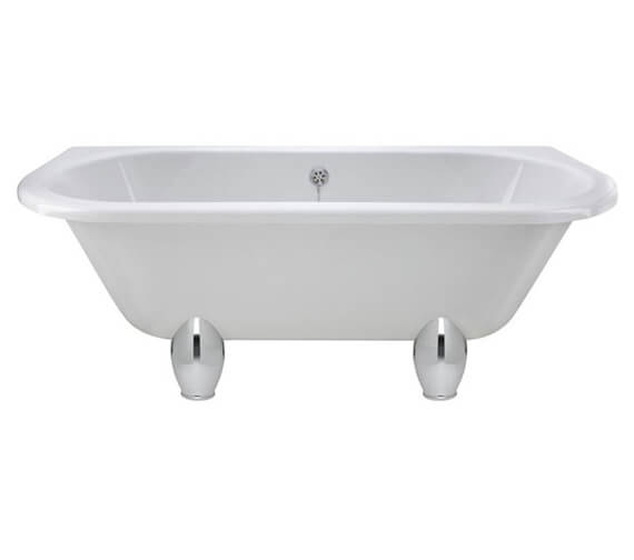 Alternate image of Hudson Reed Kenton 1700 x 750mm Back-To-Wall Freestanding Acrylic Bath With Legs