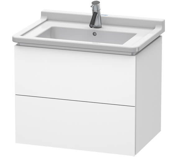 Duravit L-Cube 2 Drawer Wall Mounted Vanity Unit With Starck