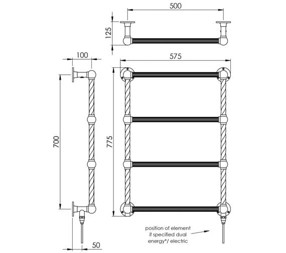 Technical drawing QS-V88594 / LG023B BR077057CP