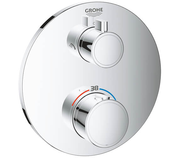 Grohe Grohtherm Thermostatic Shower Mixer For 2 Outlets With Integrated Shut Off-Diverter Valve