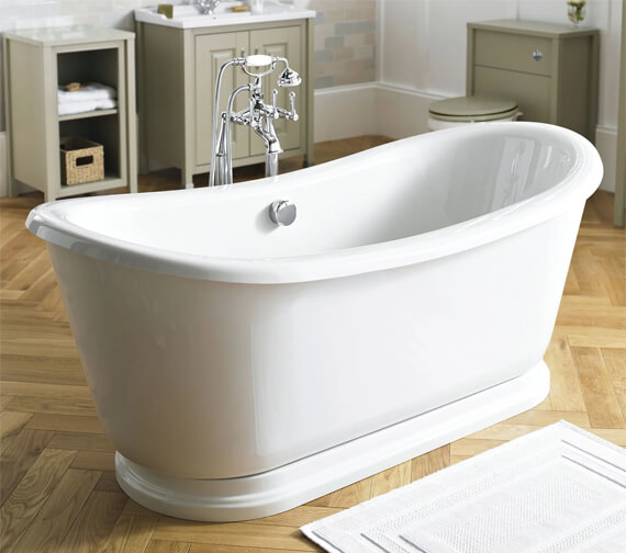 Hudson Reed Greenwich 1740 x 800mm Roll Top Slipper Bath