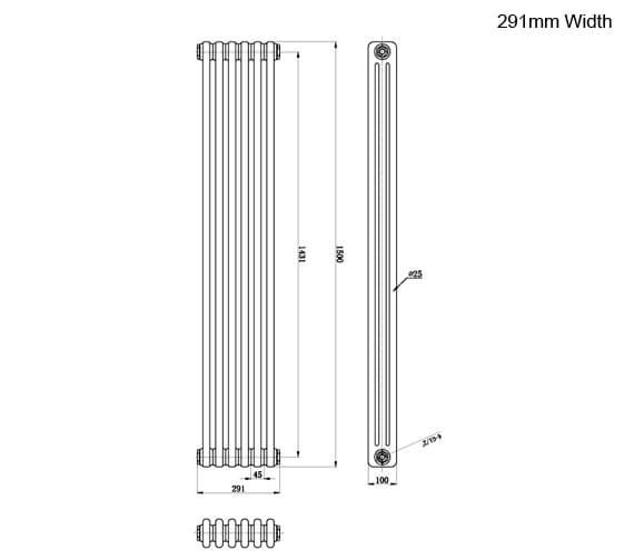 Technical drawing QS-V95149 / HX308