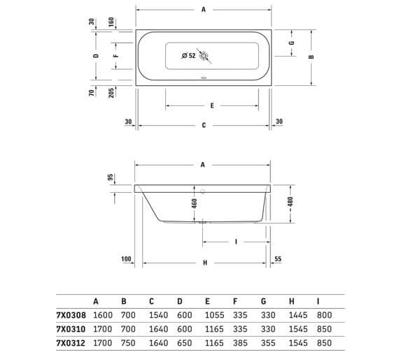 Technical drawing QS-V3554 / 760308000CL1000