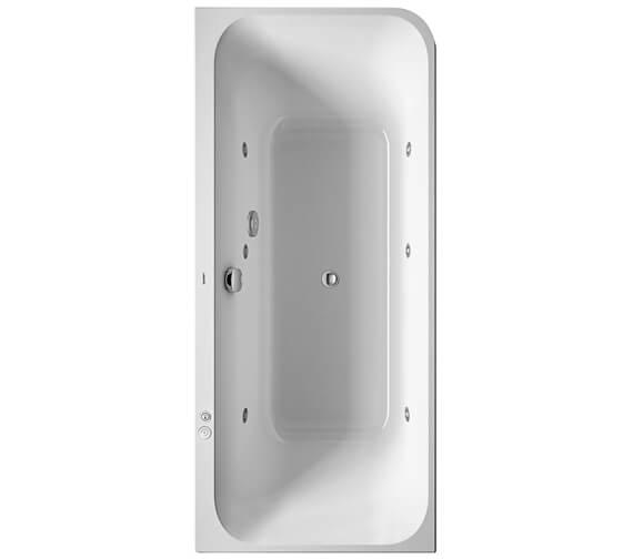Duravit Happy D2 1800 x 800mm Left Hand Corner Bath With Panel Jet System
