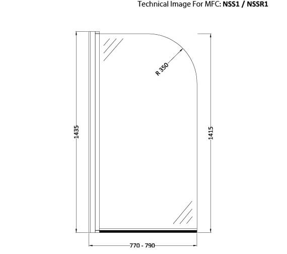 Technical drawing QS-V60405 / NSS1