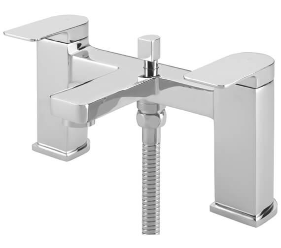 Tre Mercati Disc Pillar Bath Shower Mixer Tap With Kit
