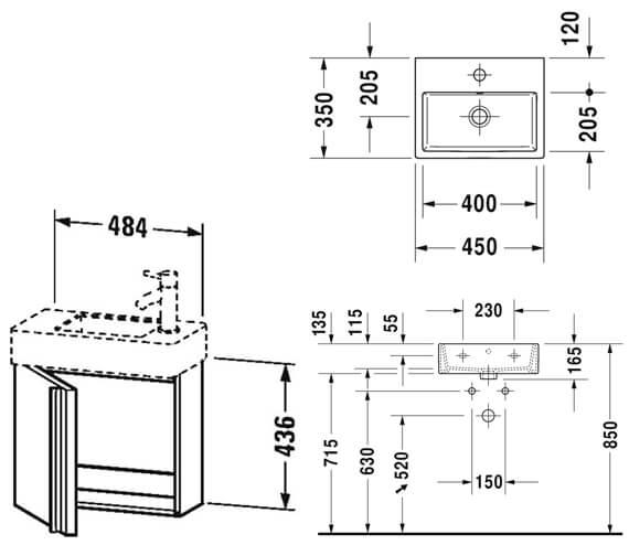Technical drawing QS-V96204 / VA6210L1818