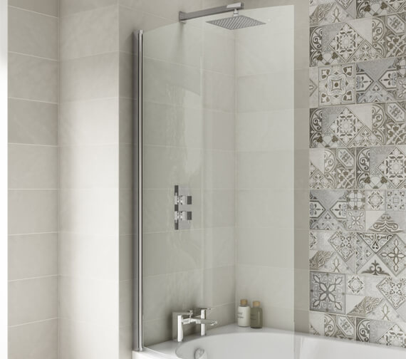 Premier 850-870 x 1435mm Curved Screen For B-Shaped Bath