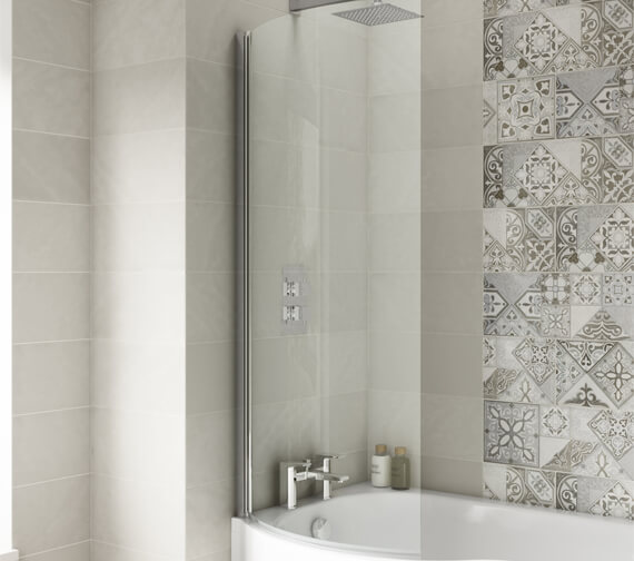 Premier 720 x 1435mm Curved Screen For P-Shaped Bath