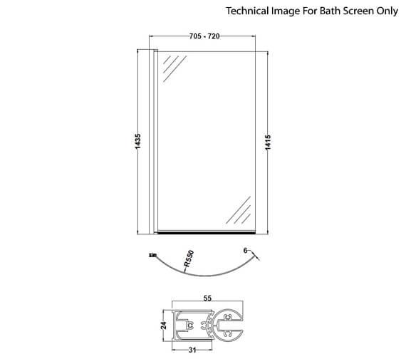 Technical drawing QS-V73418 / NCS0