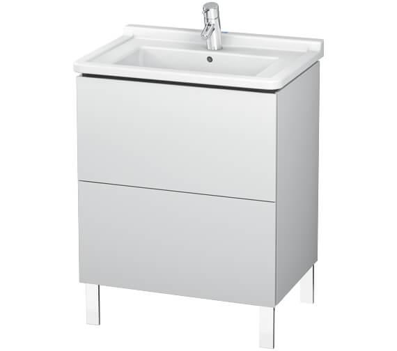 Duravit L-Cube Floor Standing 2 Drawer Vanity Unit For Starck 3 Basin