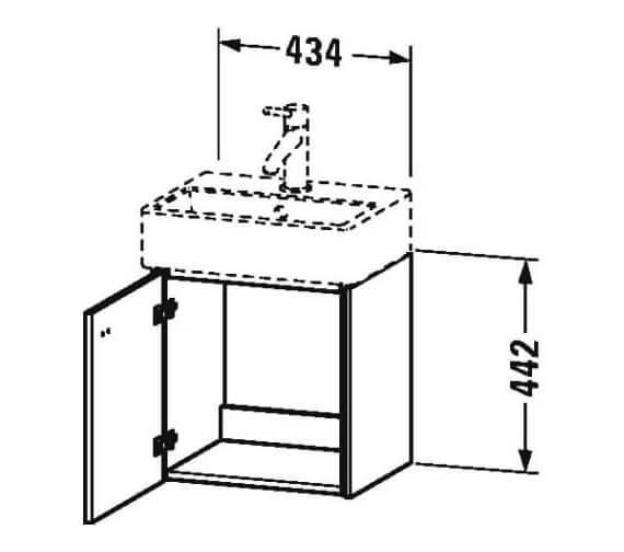 Technical drawing QS-V95829 / BR4050L1818
