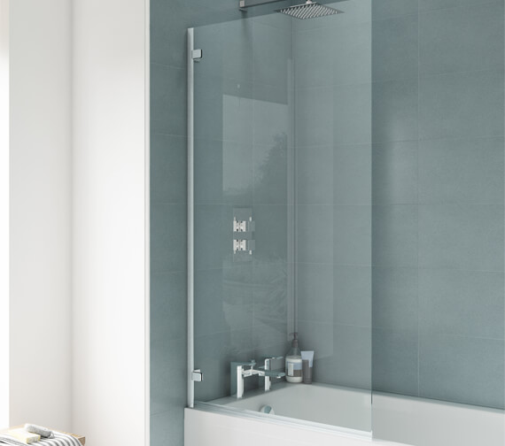 Premier Ella 780 x 1400mm Square Single Hinged Panel Bath Screen