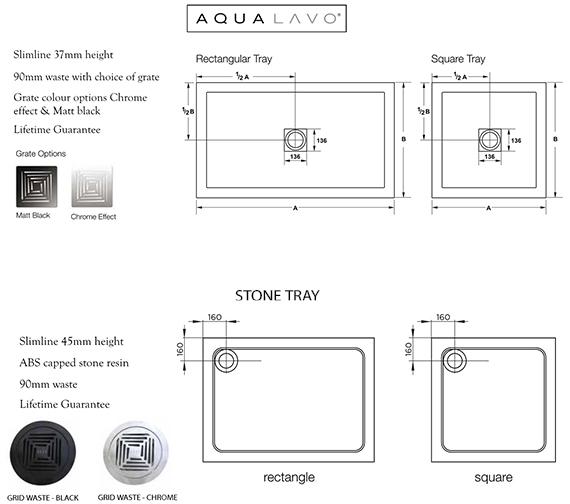 Alternate image of Aquadart Inline 3 190mm High Hinged Shower Door And Side Panels