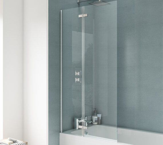 Premier Ella 745 x 1400mm Straight Hinged Bath Screen