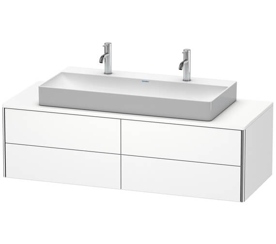 Duravit XSquare 1400 x 548mm Wall-Mounted 4-Drawer Vanity Unit For Console