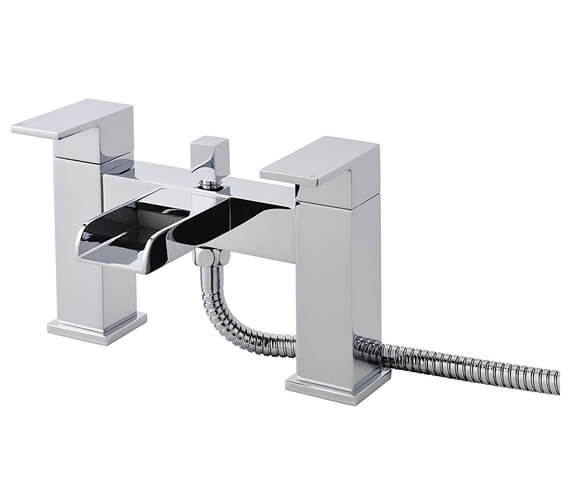 Hudson Reed Strike Open Spout Bath Shower Mixer Tap With Kit
