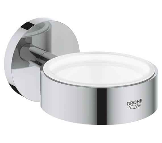 Grohe Essentials Chrome Glass Soap Dish Holder - 40369001
