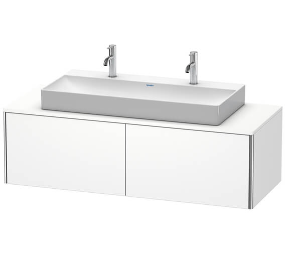 Duravit XSquare 1400 x 548mm Wall-Mounted Vanity Unit For Console With 2 Pull-Out Compartment