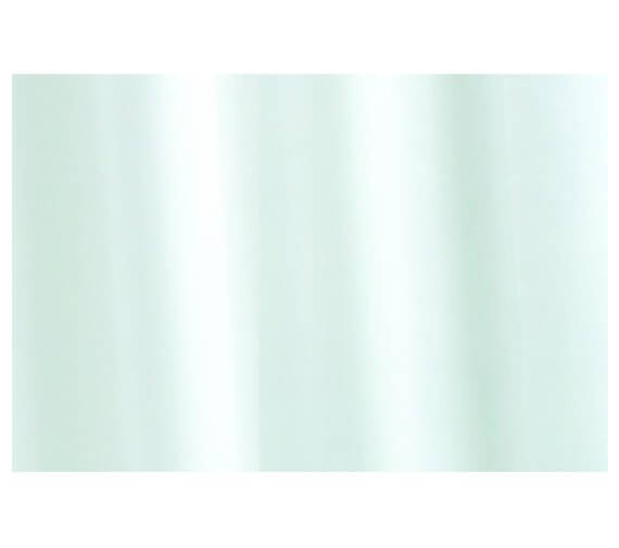 Croydex White Plain PVC Bath Shower Curtain