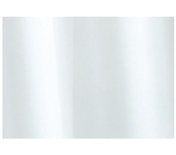 Croydex Plain White Textile Shower Curtain