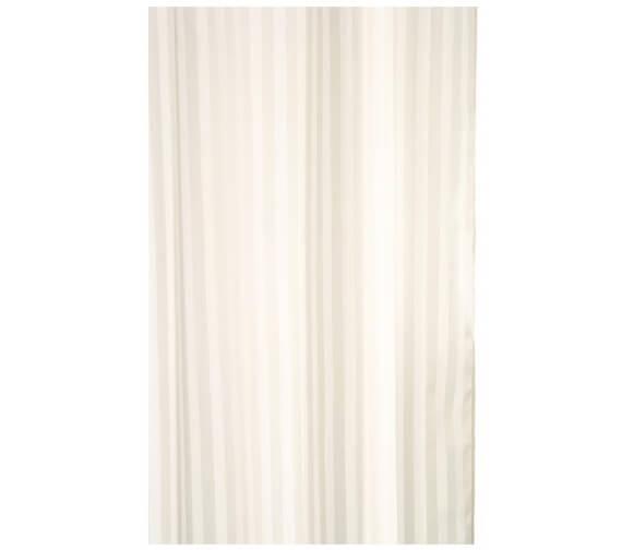 Additional image of Croydex Plain White Textile Shower Curtain