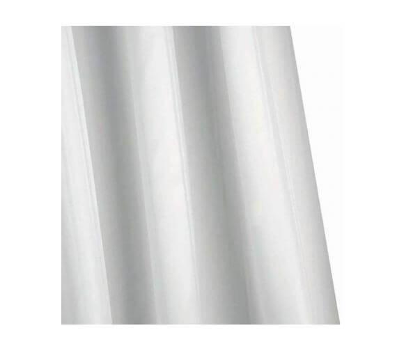 Croydex Plain Textile Shower Curtain With Hygiene N Clean