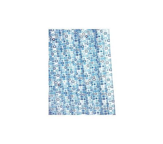 Croydex Geo Mosaic Textile Shower Curtain
