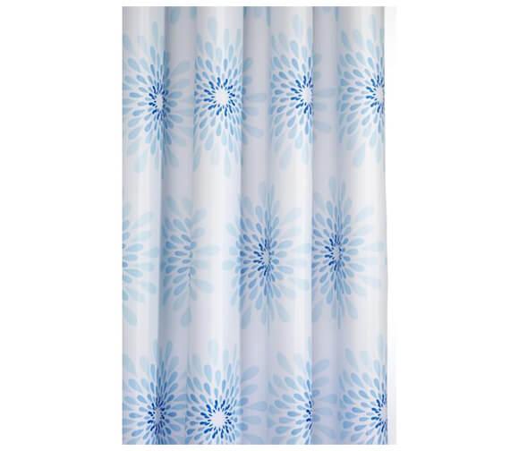 Additional image of Croydex Geo Mosaic Textile Shower Curtain