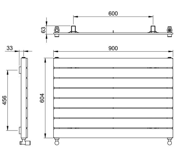 Technical drawing QS-V88608 / DR004 MS0450090WH