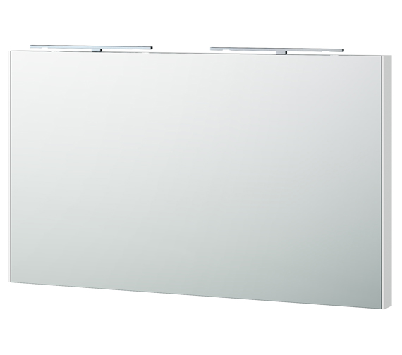 Miller London 120 White Framed Mirror