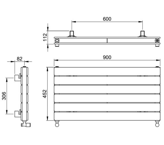 Technical drawing QS-V88610 / DR004DP MS0450090WH