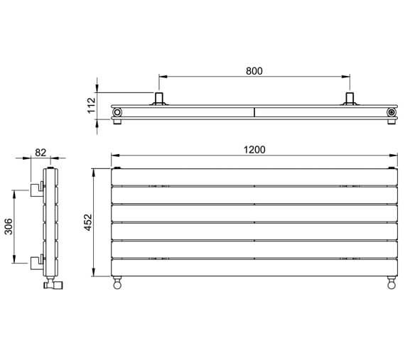 Additional image of Vogue Fly Line 452mm Height Horizontal Double Panel Radiator