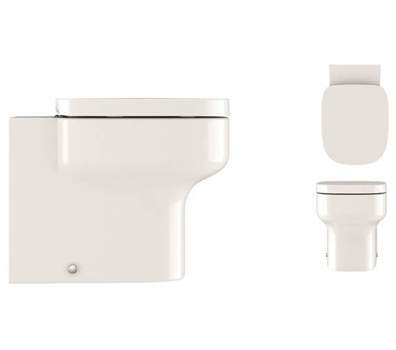 Crosswater Kai S back To Wall Toilet With Soft Close Seat